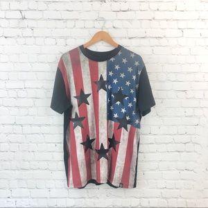 H by Hudson American Flag cotton T-shirt